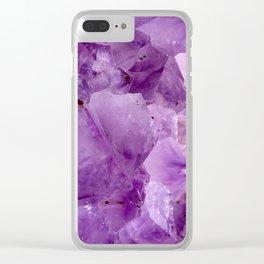 Violet Kryptonite Crystals Clear iPhone Case