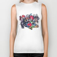 kingdom hearts Biker Tanks featuring Kingdom Hearts by Jaimie Hutton
