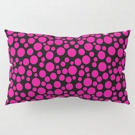 Black and pink polka dot pattern . Pillow Sham
