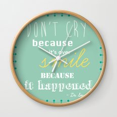 Dr. Seuss Quote Wall Clock