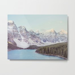 Moraine Lake Sunrise, Mountain Landscape, Nature Photography Metal Print