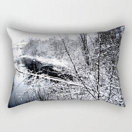 River Frozen Rectangular Pillow