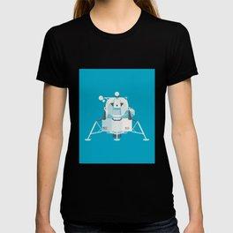 Apollo 11 Lunar Lander Module - Plain Cyan T-shirt