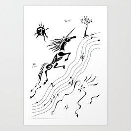 Bourree Art Print