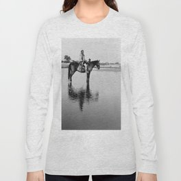 The Lone Chief, Cheyenne by Edward Curtis, 1927 Long Sleeve T-shirt