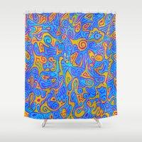 karen Shower Curtains featuring Karen by Leah Moloney