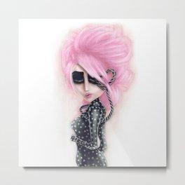 Pinkanhy Polka Metal Print