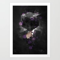 paramore Art Prints featuring Cube Head by Sitchko