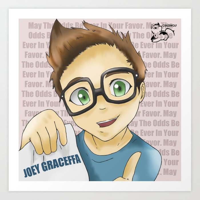 Project Youtube: Joey Graceffa Art Print by craziiwolf