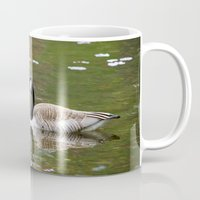 canada Mugs featuring Canada Goose by Christina Rollo