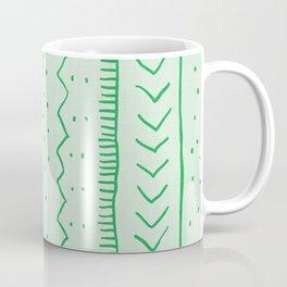 Moroccan Stripe in Green Coffee Mug