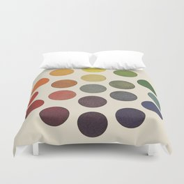 'Parsons' Spectrum Color Chart' 1912, Remake Duvet Cover