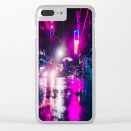 Purple Cyberpunk Clear iPhone Case