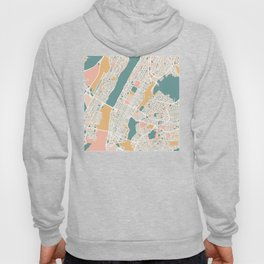 Manhattan New York Map Art Hoody