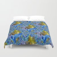 ducks Duvet Covers featuring Flowing Ducks.... by Cherie DeBevoise