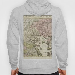 Vintage Map Print - 1780 map of Thrace and Northern Greece Hoody