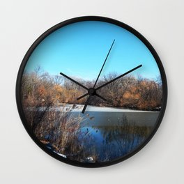 Winter in Central Park, NYC Wall Clock