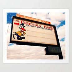 The Friendly Duck Restaurant Art Print