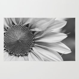 The Flower (Black and White) Rug