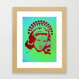 Bacall Beach Icon Framed Art Print