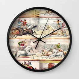 1875 Montage of Traveling America Circus Acts Posters Wall Clock