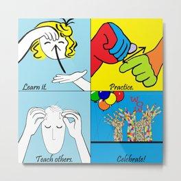 ASL Four Steps to Success Metal Print