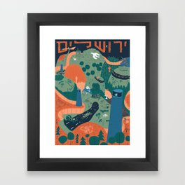 Jerusalem Poster Framed Art Print