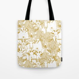 just goats gold Tote Bag