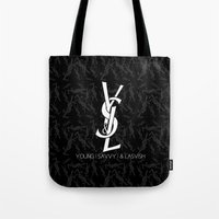 ysl Tote Bags featuring Young | Savvy | & Lavish | YS&L Invert by NASHGFX