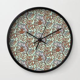 Yarnball Kitty Cat Wall Clock