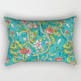 Morning Song - turquoise Rectangular Pillow