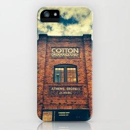 Cotton Exchange iPhone Case