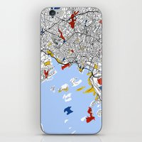oslo iPhone & iPod Skins featuring Oslo mondrian by Mondrian Maps