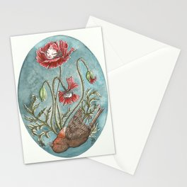 What has died will live Stationery Cards
