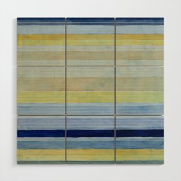Colorbands Daylight Blue and Yellow Wood Wall Art