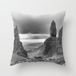 The Old Man of Storr. Throw Pillow