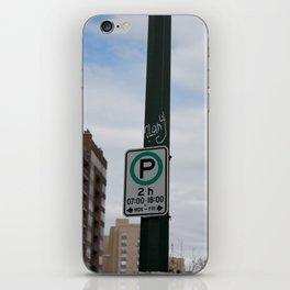 2h Parking iPhone Skin