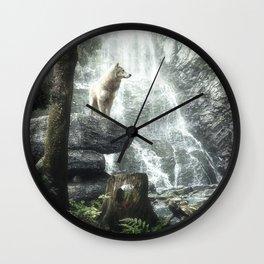 Three Friends, Three Clans Wall Clock