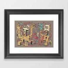 Le duel des Thaumaturges (color version) Framed Art Print