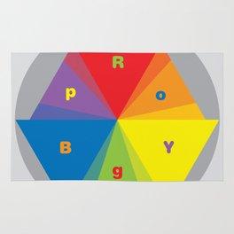 Color wheel by Dennis Weber / Shreddy Studio with special clock version Rug