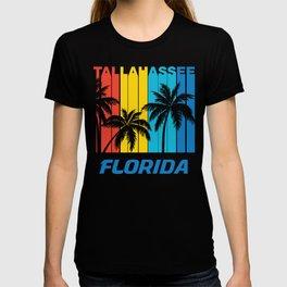 Retro Tallahassee Florida Palm Trees Vacation T-shirt