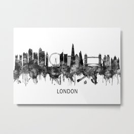London England Skyline BW Metal Print