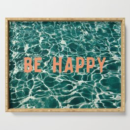 Be Happy Serving Tray