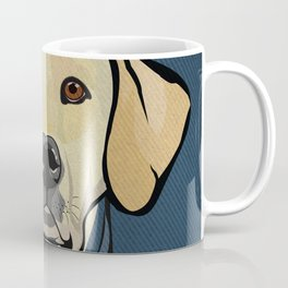 Icons of the Dog Park: Yellow Labrador Design in Bold Colors for Pet Lovers Coffee Mug