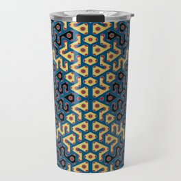 Squiggle Trails Most Awesome Yellow Red Blue and Black Travel Mug