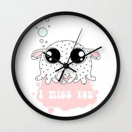 Little dumbo octopus Wall Clock