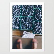 Blueberries at the Farmer's Market Art Print