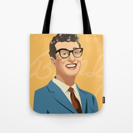 Buddy Holly Illutration Tote Bag