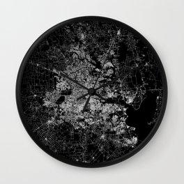 Houston map Wall Clock