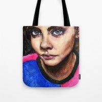 cara delevingne Tote Bags featuring Cara Delevingne:) by vooce & kat